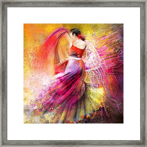 Spain - Flamencoscape 12 Framed Print