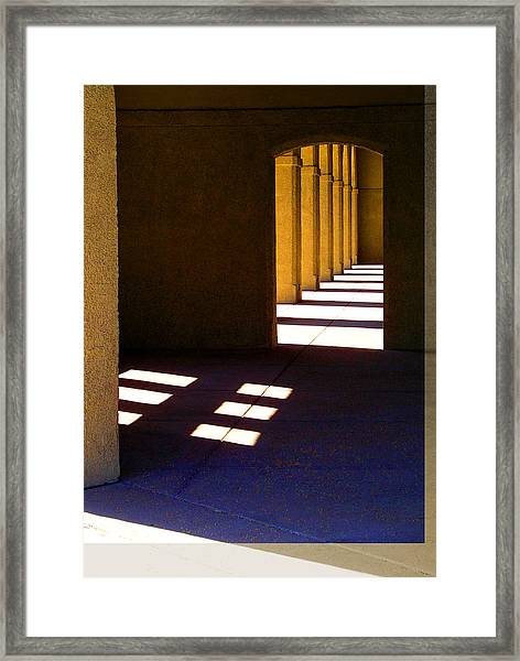 Spanish Arches Light Shadow Framed Print