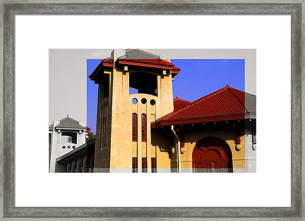 Spanish Architecture Tile Roof Tower Framed Print