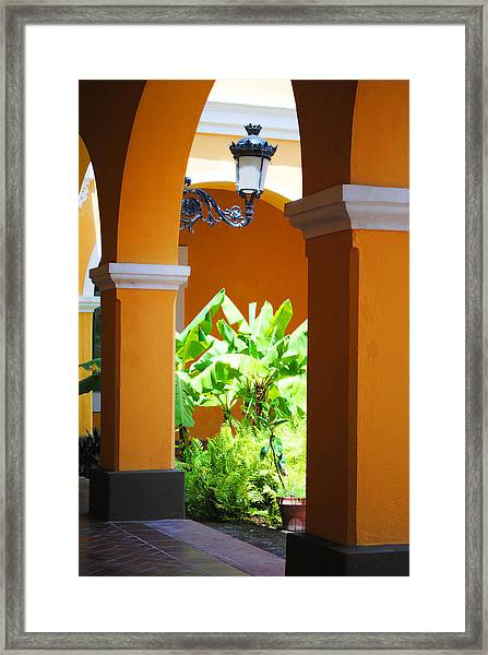 Spanish Court Framed Print