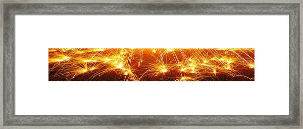 Spark Dance Framed Print