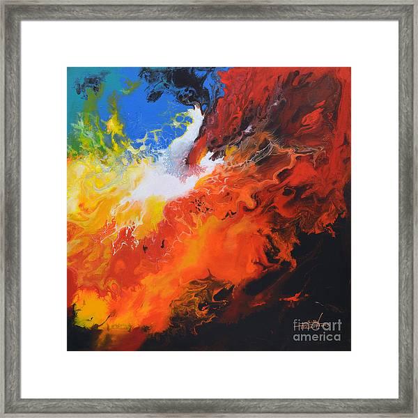 Spark Of Life Canvas Three Framed Print