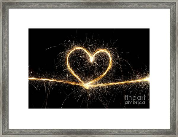 Spark Of Love Framed Print