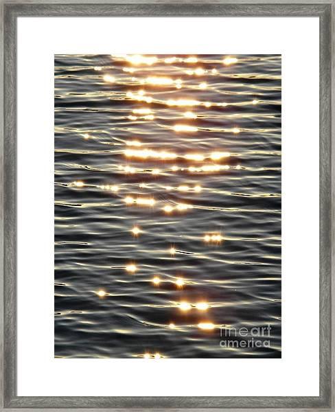 Sparkles Of Hope Framed Print