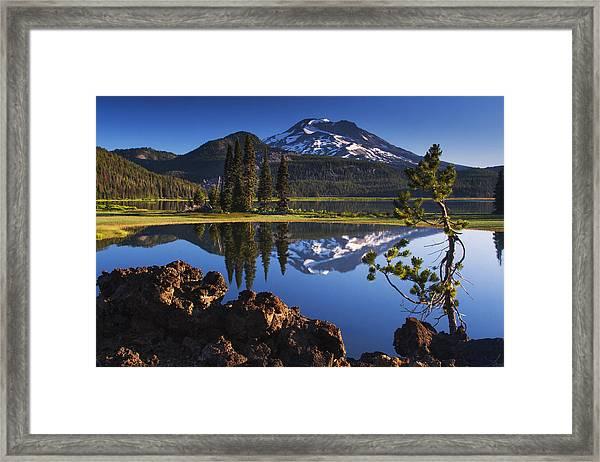 Sparks Lake Sunrise Framed Print