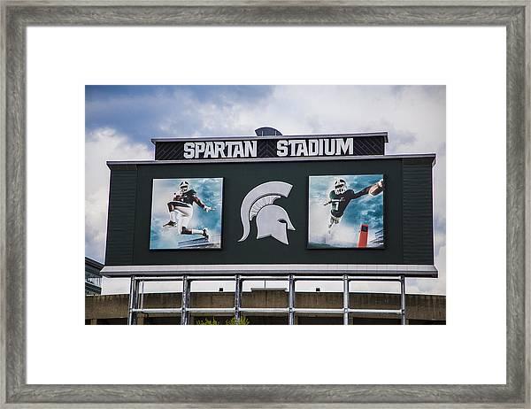 Spartan Stadium Scoreboard  Framed Print