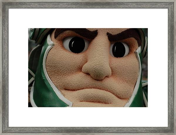 Sparty Face  Framed Print
