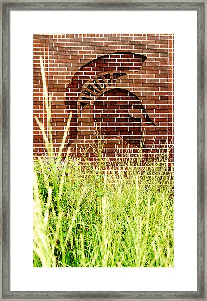 Sparty On The Wall Framed Print