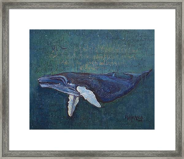 Framed Print featuring the painting Speaking Whale by Laurie Maves ART