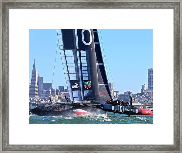 Oracle America's Cup Winner Framed Print