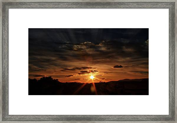 Spectacle In The Sky Framed Print