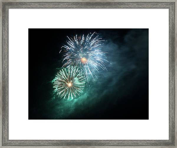 Spectacular Fireworks Framed Print by Zeiss4me