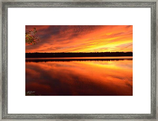 Spectacular Orange Mirror Framed Print