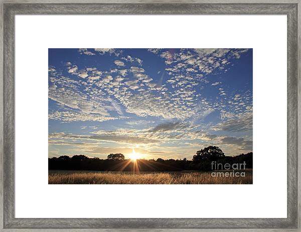 Spectacular Sunset England Framed Print