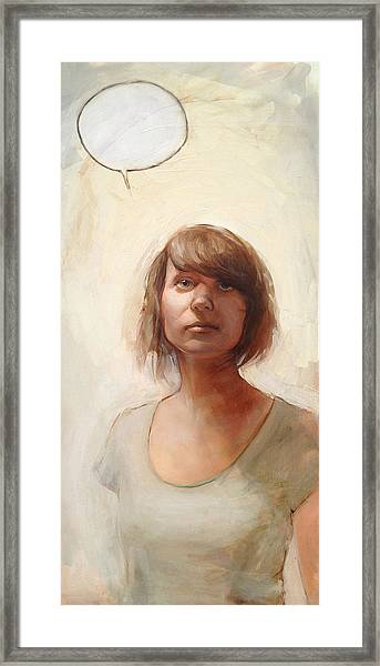 Speechless Framed Print by Matthew Schenk