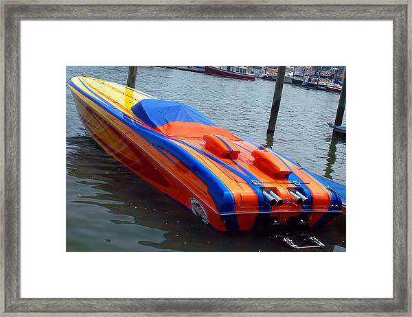 Speed 2 - Outerlimits Framed Print by Joann Vitali