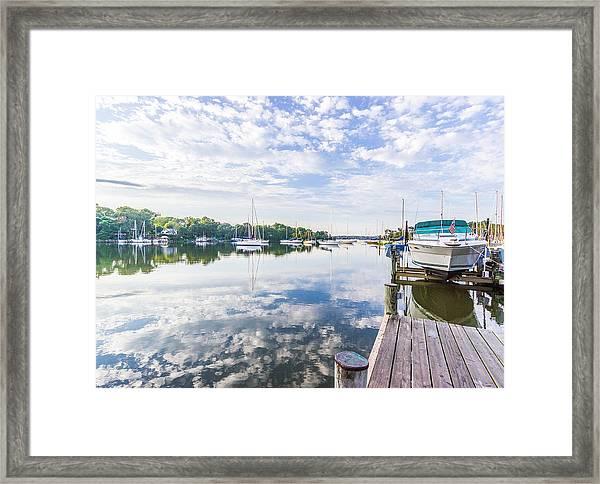 Speedboat On The Magothy River Framed Print