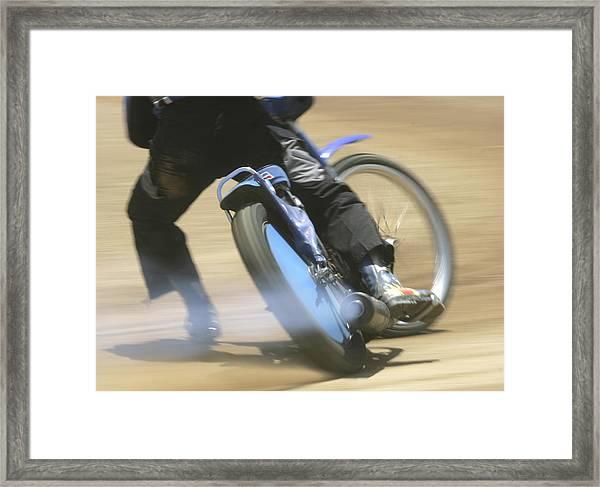 Speedway Slide Framed Print