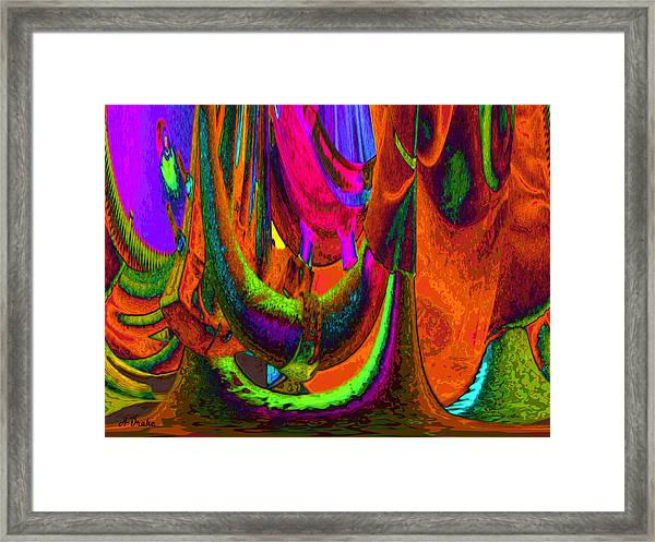 Spelunking On Venus Framed Print