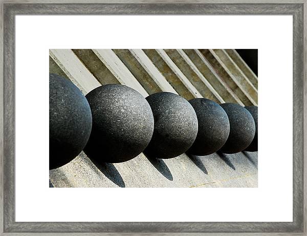 Spheres And Steps Framed Print