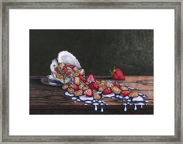 Spilt Milk Framed Print