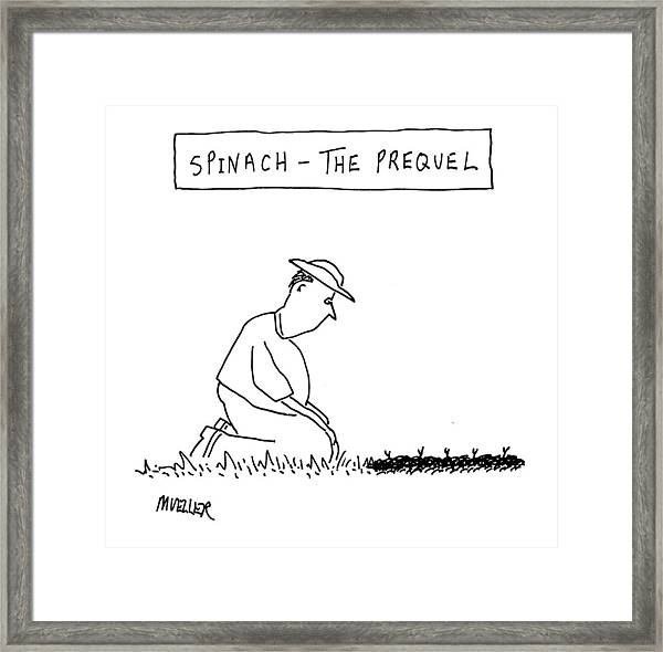 'spinach: The Prequel' Framed Print