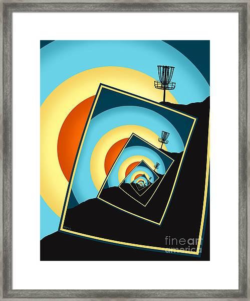 Spinning Disc Golf Baskets 1 Framed Print