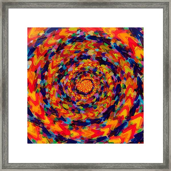 Spiral Color 14-49 Framed Print by Patrick OLeary