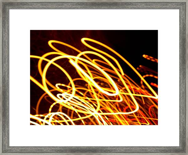 Spiral Light Among Dwellers About The City 2 Framed Print