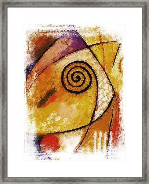 Spiral Rough Framed Print