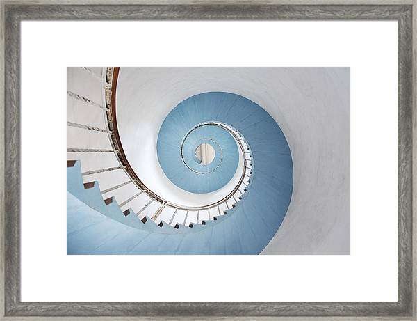 Spiral Staircase Framed Print by Acilo