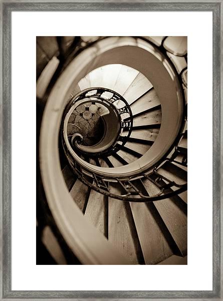Spiral Staircase Framed Print