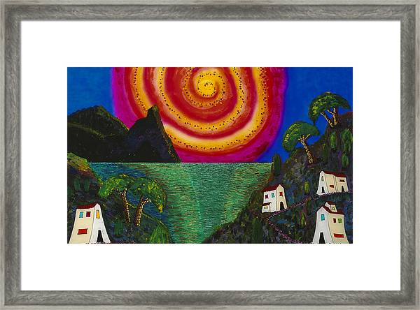 Spiral Sun Framed Print by Patrick OLeary