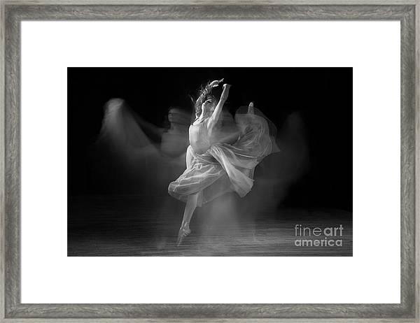 Spirit Dance In Black And White Framed Print