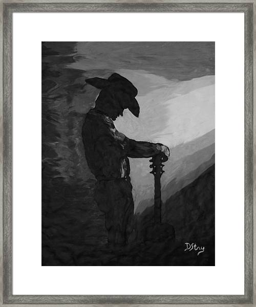 Spirit Of A Cowboy Framed Print