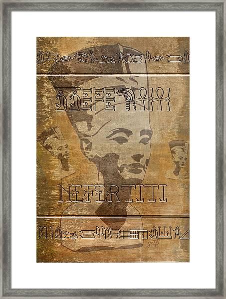 Spirit Of Nefertiti Egyptian Queen   Framed Print