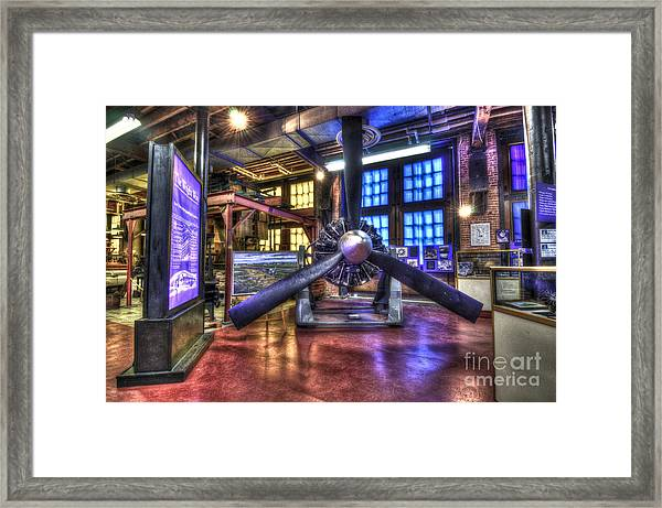 Spirit Of St.louis Engine Framed Print
