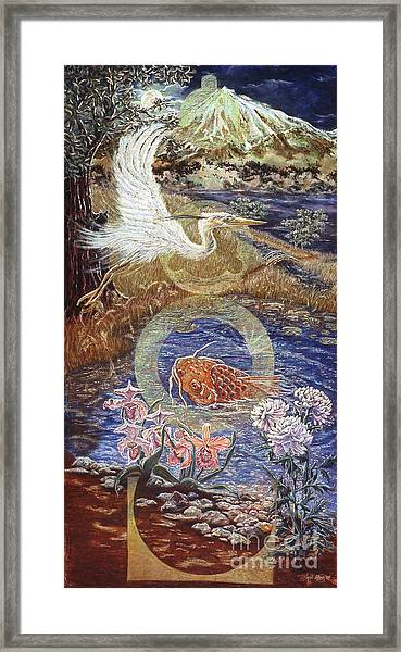 Spirit Rising Framed Print by Gail Allen