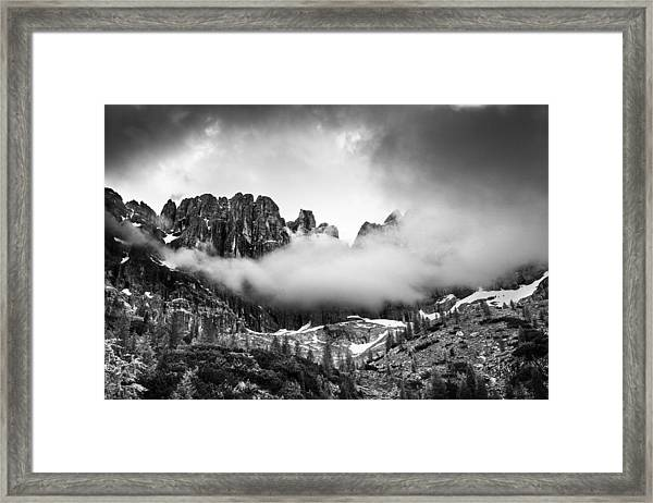 Spirits Of The Mountains Framed Print