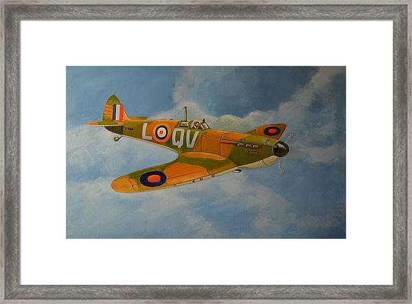 Spitfire Mk1a Framed Print