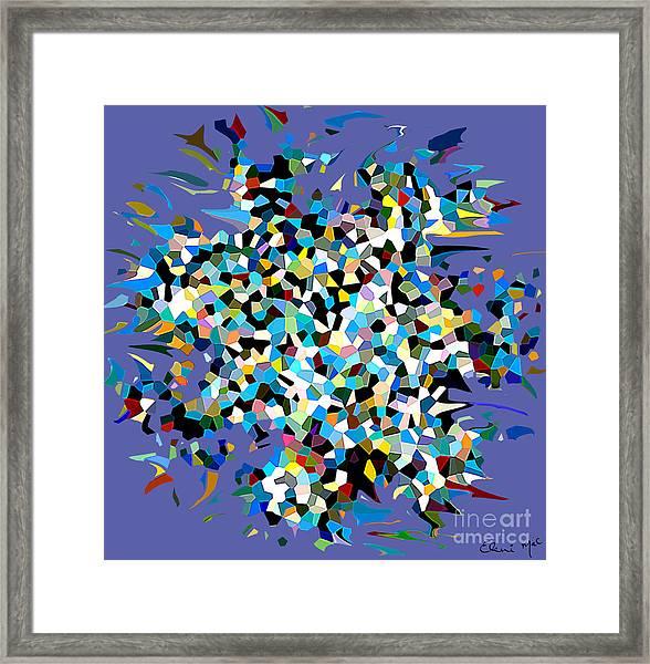 Framed Print featuring the digital art Splash by Eleni Mac Synodinos