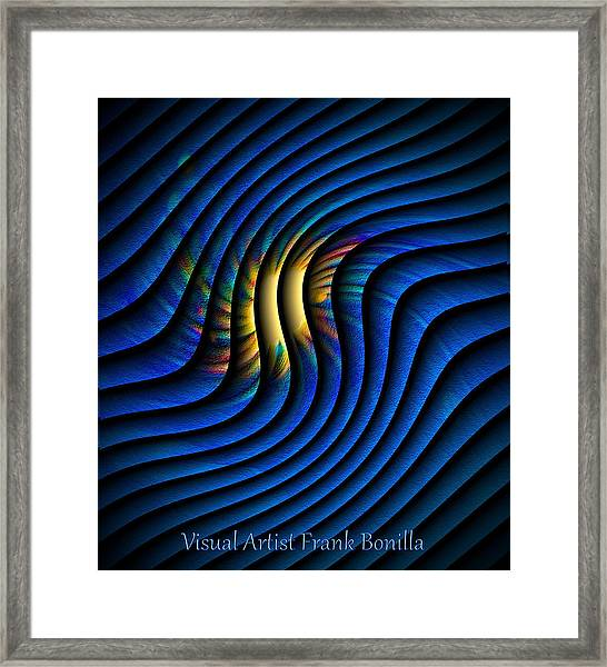 Framed Print featuring the digital art Splash Of Color by Visual Artist Frank Bonilla