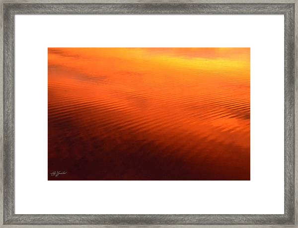 Splash Of Sunset  Framed Print