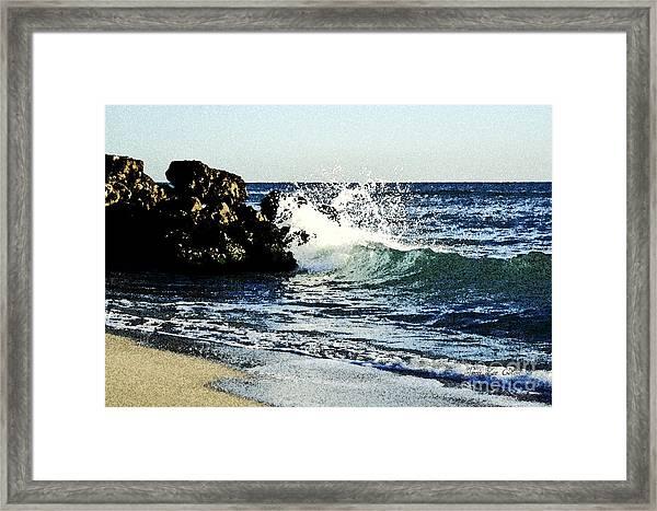 Splashing Wave Framed Print