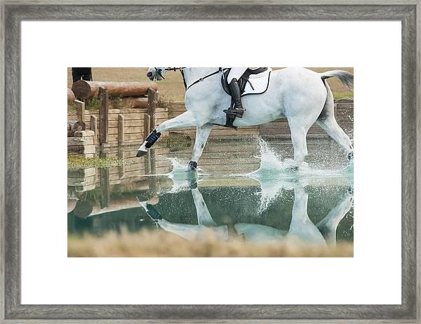 Splashy Reflection Framed Print