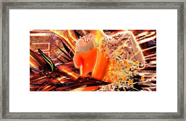 Splatter Of Light Framed Print
