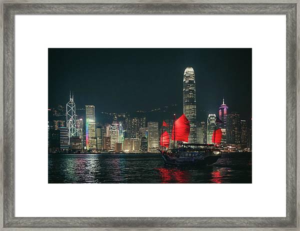 Splendid Asian City, Hong Kong Framed Print