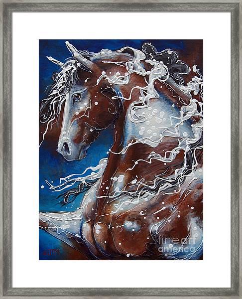 Splish Splashed My Paint Framed Print