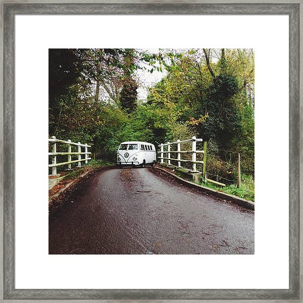 Splitscreen Over Tewin Bridge II Framed Print