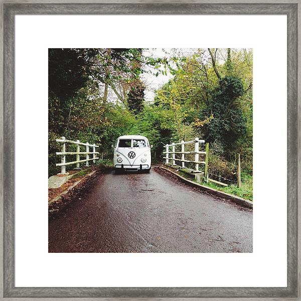 Splitscreen Over Tewin Bridge Iv Framed Print